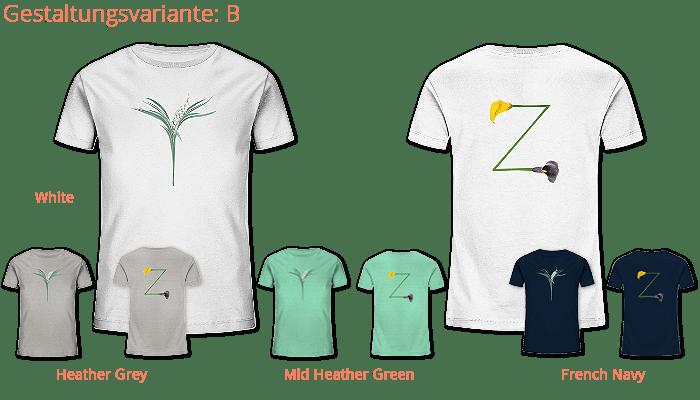 deine-initalen gedruckt auf Kids Organic Shirt-faibleshop.com