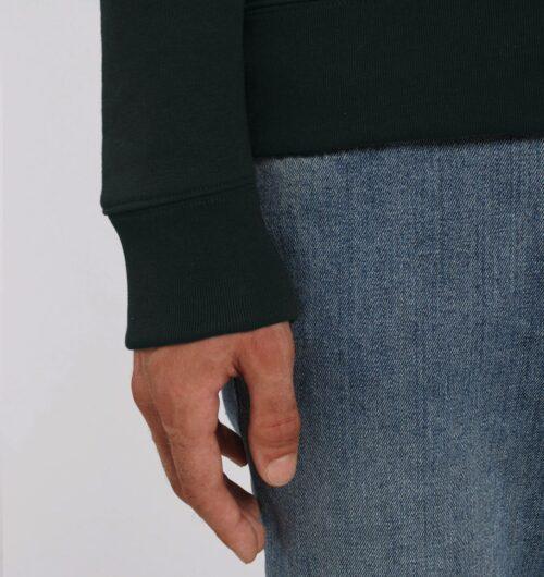 dufte, Blumenbuchstaben gedruckt auf Organic Sweatshirt, black
