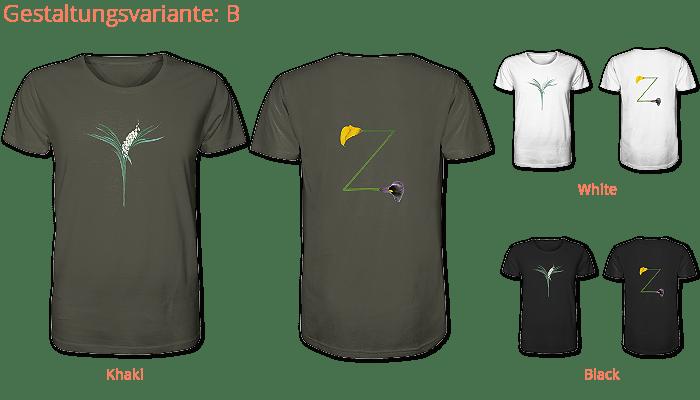 deine-initalen gedruckt auf Organic Shirt-faibleshop.com
