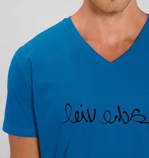 Lache viel gedruckt auf Organic Basics aus Baumwolle, faibleshop.com > Typo & Texte