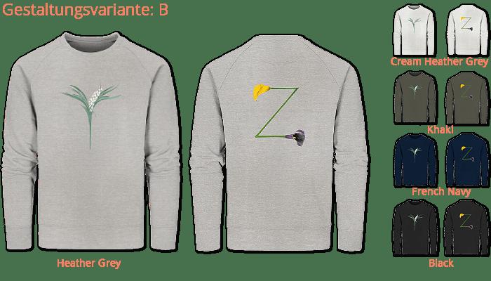 deine-initalen gedruckt auf Ladies Organic Sweatshirt-faibleshop.com
