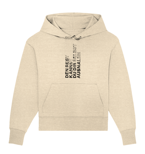 front organic oversize hoodie feecce